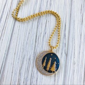 Wild Moon Forest Pendant Necklace